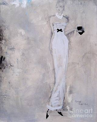 Evening Gown Mixed Media - Colours Of The Night - 1 by Andrea Stajan-Ferkul