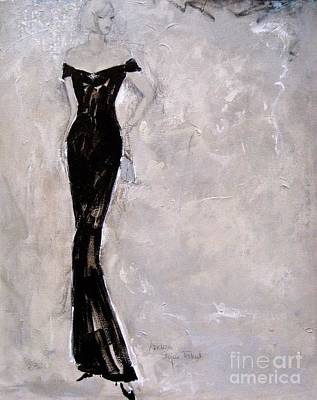 Evening Gown Mixed Media - Colours Of The Night - 3 by Andrea Stajan-Ferkul
