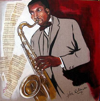Coltrane Print by Cathy Belleville