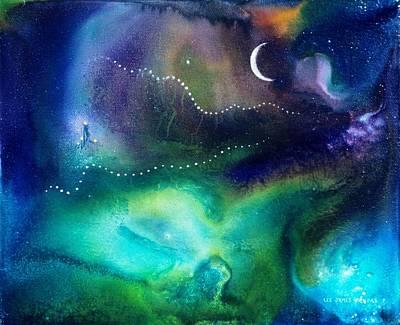 Columbian Moonrise Print by Lee Pantas