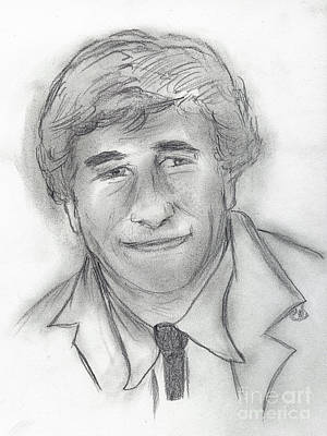Peter Falk Drawing - Columbo by Sonya Chalmers