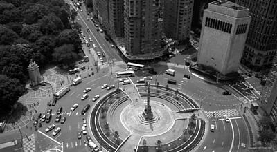 Columbus Circle Nyc C.2005 Print by Frank Mari
