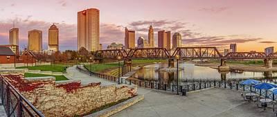 Photograph - Columbus Ohio Skyline At Sunset by Scott McGuire