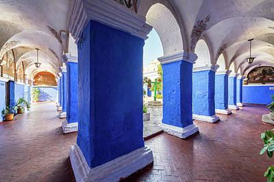 Columns In Santa Catalina Monastery Print by Jess Kraft