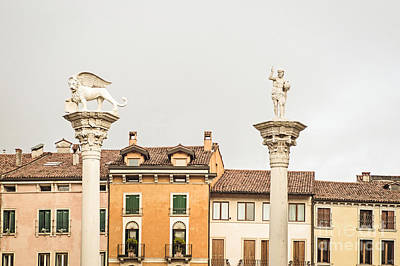 Columns Of Piazza Signori Print by Prints of Italy