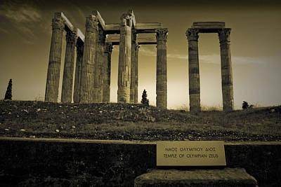 Columns Of The Olympian Zeus Print by Maria Panagiotaki