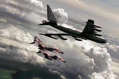 Sunset Digital Art - Combat Air Patrol by Peter Chilelli