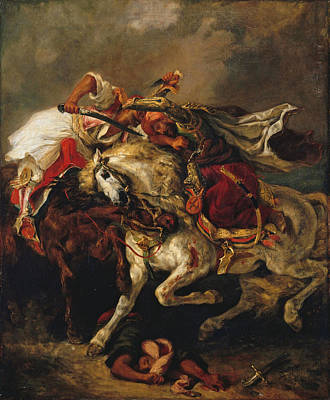 Painting - Combat Of The Giaour And The Pasha by Eugene Delacroix