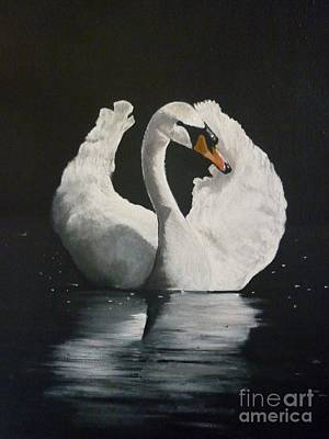Swans... Painting - Come Get Me by Paul Horton