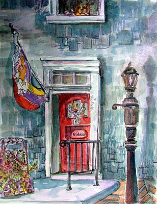 Lamp Post Mixed Media - Come In by Mindy Newman