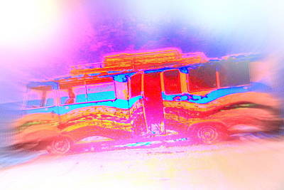 Come Live With Me In My Hippie Bus  Print by Hilde Widerberg