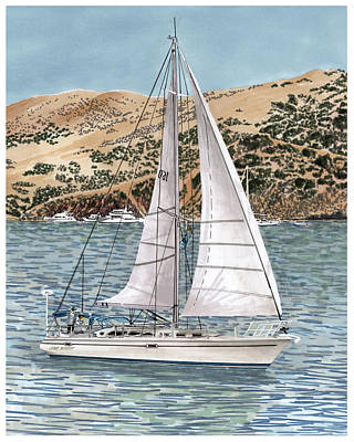 Come Monday Sailing Yacht Print by Jack Pumphrey