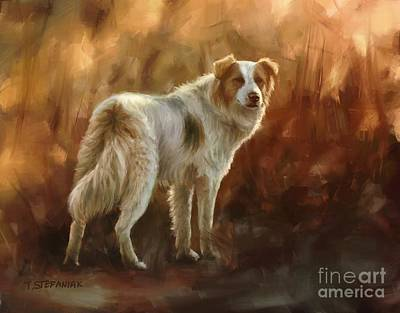 Dog Painting - Come On by Tobiasz Stefaniak
