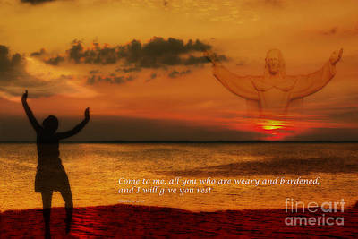 Jesus Christ Digital Art - Come To Me All You Who Are Weary by Randy Steele