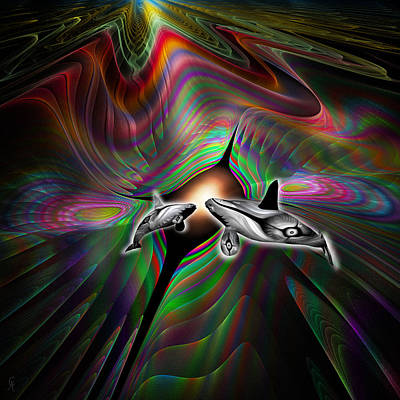 Orca Digital Art - Come To The Light by Carmen Hathaway