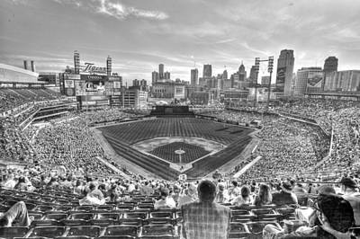 Tiger Digital Art - Comerica Park by Nicholas  Grunas