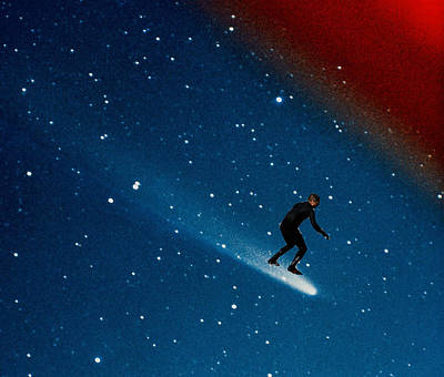 Comet Surfer Print by Andy PYRAH