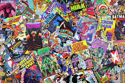 Comic Books Print by Tim Gainey