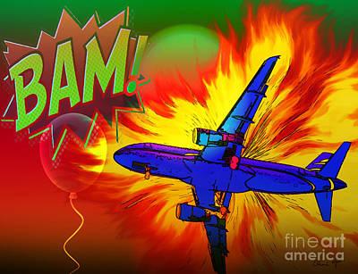 Digital Art - Comic Plane by Eleni Mac Synodinos