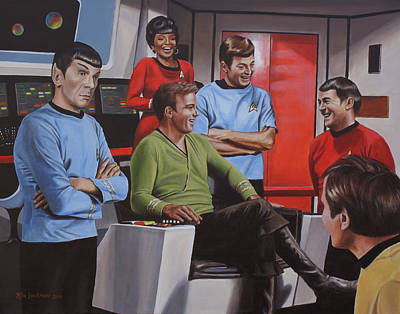 Captain Painting - Comic Relief by Kim Lockman