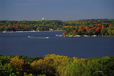 Coming And Going - Lake Geneva Wisconsin Print by Bruce Thompson