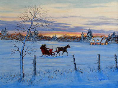 Trees Painting - Coming Home by Richard De Wolfe