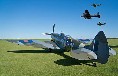 Spitfire Photograph - Coming Home by Scott Carruthers