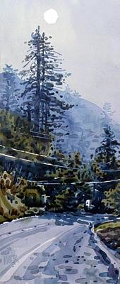 Coming Into La Honda Print by Donald Maier