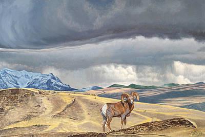 Bighorn Painting - Coming Rainstorm by Paul Krapf