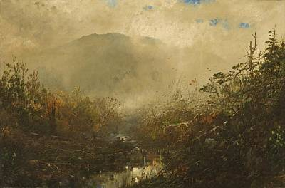 Mountain Valley Painting - Coming Storm In The Adirondacks by William Sonntag