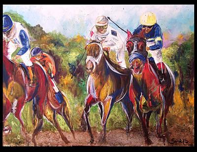 Arkansas Painting - Comissioned Line Of David 2010 Ak Derby Winner  by Amanda  Sanford