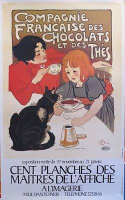 Compagnie Francaise Des Chocolats French Exhibition Poster For Cent Planches Des Maitres De Laffiche Original by after Alexandre Theophil Steinlen