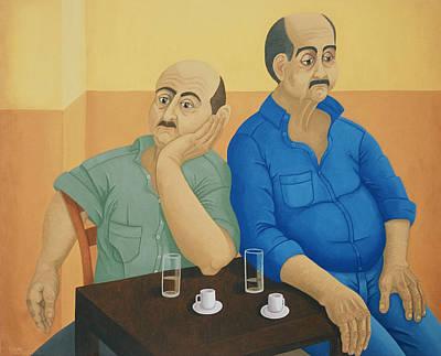 Greece Painting - Companionable Silence by Diana Kordas