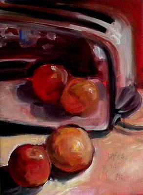 Comparing Apples And Oranges 2 Print by Paula Strother