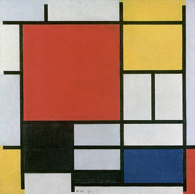 Blue And Red Painting - Composition In Red, Yellow, Blue And Black by Piet Mondrian