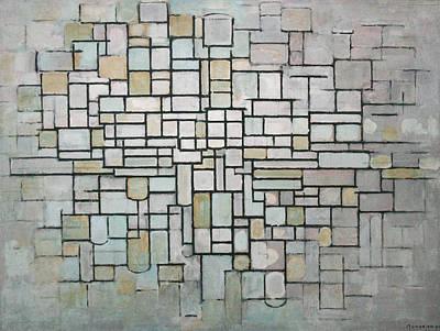 De Stijl Painting - Composition No. 11 by Piet Mondrian