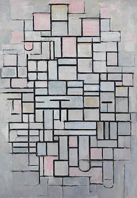 De Stijl Painting - Composition No Iv by Piet Mondrian