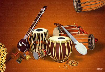 Venkat Digital Art - Composition Of Drums by Venkat Meruvu