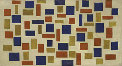 Square Painting - Composition Xi by Theo van Doesburg