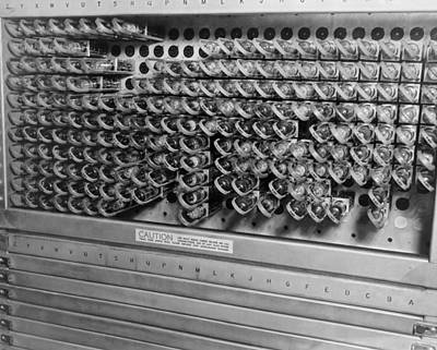 Computer Electrical Components Print by Underwood Archives