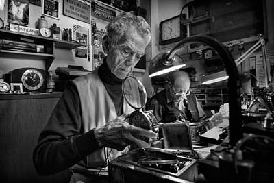 Watchmaker Photograph - Concentration. by Antonio Grambone
