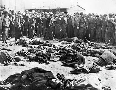 Concentration Camp, 1945 Print by Granger