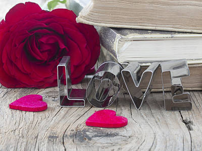 Book Title Digital Art - Concept Of Love by Vesna Cvorovic