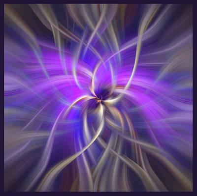 Concept Spirituality. Square  Print by Jenny Rainbow