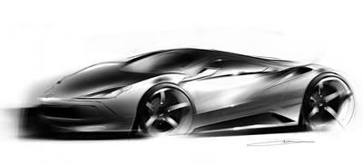 Concept Sportscar  Print by Ryan Dickman