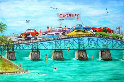 Ford Mustang Painting - Conch Day by Linda Cabrera