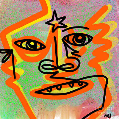 Sangha Digital Art - Concious by Will Hoffman