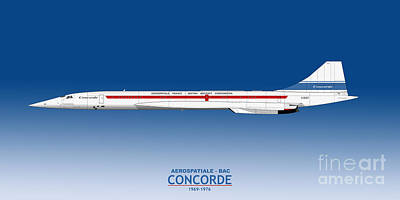Airliners Drawing - Concorde 002 G-bsst by Steve H Clark Photography