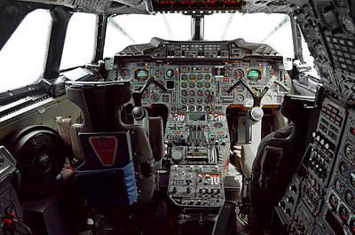 Boac Photograph - Concorde Supersonic  Passenger Jet Cockpit by Daniel Hagerman