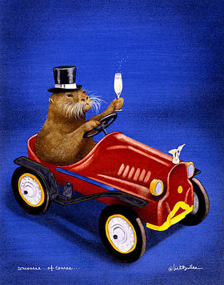 Otter Painting - Concourse, Of Course... by Will Bullas